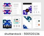geometric background template... | Shutterstock .eps vector #500520136