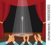 clapping of spectators and... | Shutterstock .eps vector #500520352