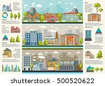 urbanity infographics template... | Shutterstock .eps vector #500520622