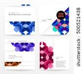 geometric background template... | Shutterstock .eps vector #500521438
