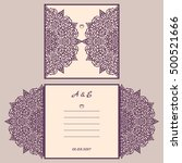 abstract wedding cutout... | Shutterstock .eps vector #500521666