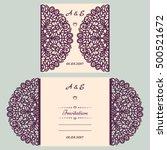 wedding invitation or greeting... | Shutterstock .eps vector #500521672