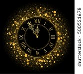 vector shiny new year clock | Shutterstock .eps vector #500521678