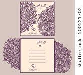 wedding invitation or greeting... | Shutterstock .eps vector #500521702