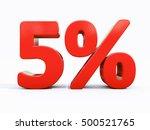 5 percent discount 3d sign on... | Shutterstock . vector #500521765