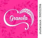 granola logo design. | Shutterstock .eps vector #500522506