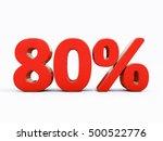 80 percent discount 3d sign on...   Shutterstock . vector #500522776