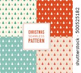 christmas tree pattern... | Shutterstock .eps vector #500525182