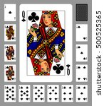 playing cards of clubs suit and ... | Shutterstock .eps vector #500525365