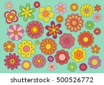 sixties flowers | Shutterstock .eps vector #500526772