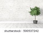 modern bright interior . 3d... | Shutterstock . vector #500537242