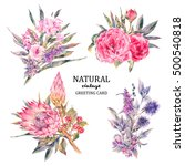 set of vintage floral vector... | Shutterstock .eps vector #500540818
