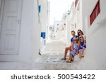 family vacation in europe.... | Shutterstock . vector #500543422