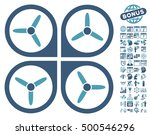 quadrotor pictograph with bonus ... | Shutterstock .eps vector #500546296