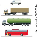 commercial vehicles elevations | Shutterstock .eps vector #50055544