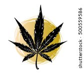 hand drawn  medical cannabis... | Shutterstock .eps vector #500559586