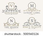 luxury logo template. shield... | Shutterstock .eps vector #500560126