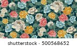 seamless floral pattern in... | Shutterstock .eps vector #500568652
