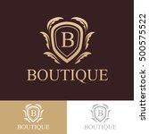 luxury logo boutique hotel... | Shutterstock .eps vector #500575522