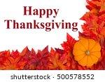 happy thanksgiving greeting ... | Shutterstock . vector #500578552