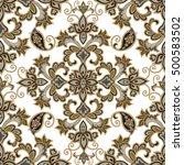 floral pattern. flourish... | Shutterstock .eps vector #500583502