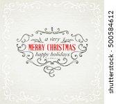 christmas hand drawing frames | Shutterstock .eps vector #500584612