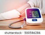digital blood pressure monitor... | Shutterstock . vector #500586286