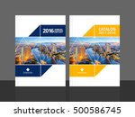 cover design for annual report... | Shutterstock .eps vector #500586745