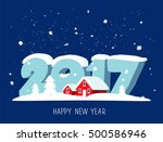 quote happy new year. great... | Shutterstock .eps vector #500586946
