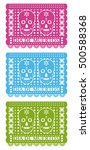 day of the dead  cut out paper... | Shutterstock .eps vector #500588368