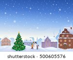 vector cartoon illustration of... | Shutterstock .eps vector #500605576