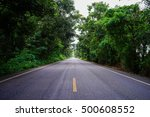 straight forest country road in ... | Shutterstock . vector #500608552