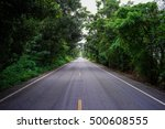 straight forest country road in ... | Shutterstock . vector #500608555