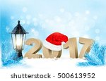 happy new year 2017  new year... | Shutterstock .eps vector #500613952