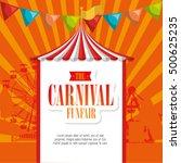 entertainment carnival funfair... | Shutterstock .eps vector #500625235