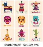 mexican symbols | Shutterstock .eps vector #500625496