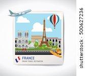 france photo travel... | Shutterstock .eps vector #500627236