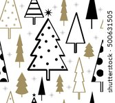 sparkling christmas tree pattern | Shutterstock .eps vector #500631505
