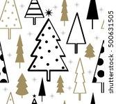 sparkling christmas tree pattern | Shutterstock .eps vector #500631505