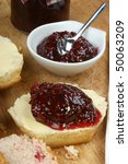 Scone With Organic Jam On A...