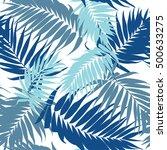 tropical plant leaves... | Shutterstock .eps vector #500633275