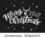 merry christmas 2017. holiday... | Shutterstock .eps vector #500634415