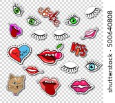 big set of girl fashion patch ... | Shutterstock .eps vector #500640808