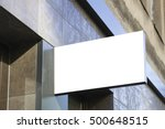 signboard shop or restaurant.... | Shutterstock . vector #500648515