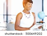 young woman in office using... | Shutterstock . vector #500649202