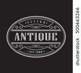 retro frame vintage border... | Shutterstock .eps vector #500663266