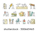 office supplies set with... | Shutterstock .eps vector #500665465