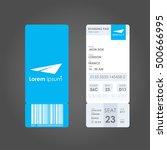boarding pass. airline boarding ... | Shutterstock .eps vector #500666995