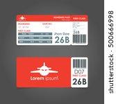 Boarding Pass. Airline Boardin...