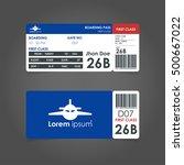 boarding pass. airline boarding ... | Shutterstock .eps vector #500667022